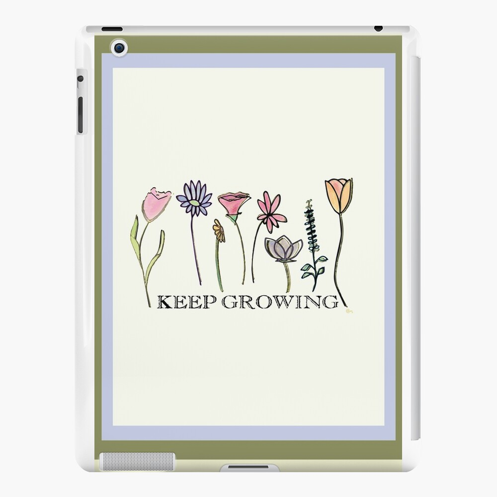Keep Growing (in olive green) iPad Cases & Skins