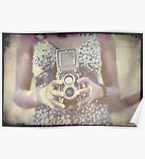 Vintage Medium Format Camera Poster