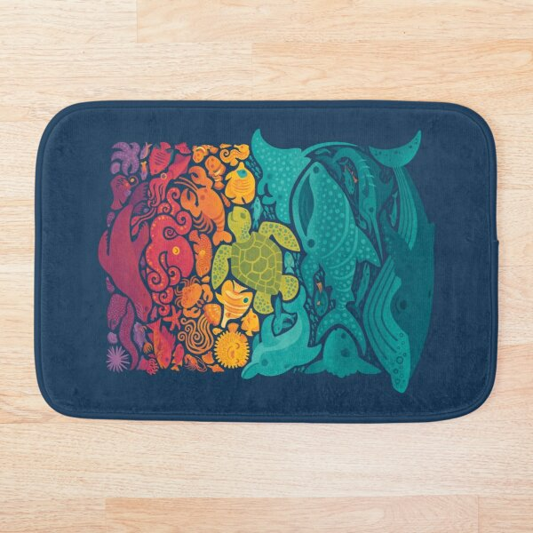 Aquatic Spectrum Bath Mat