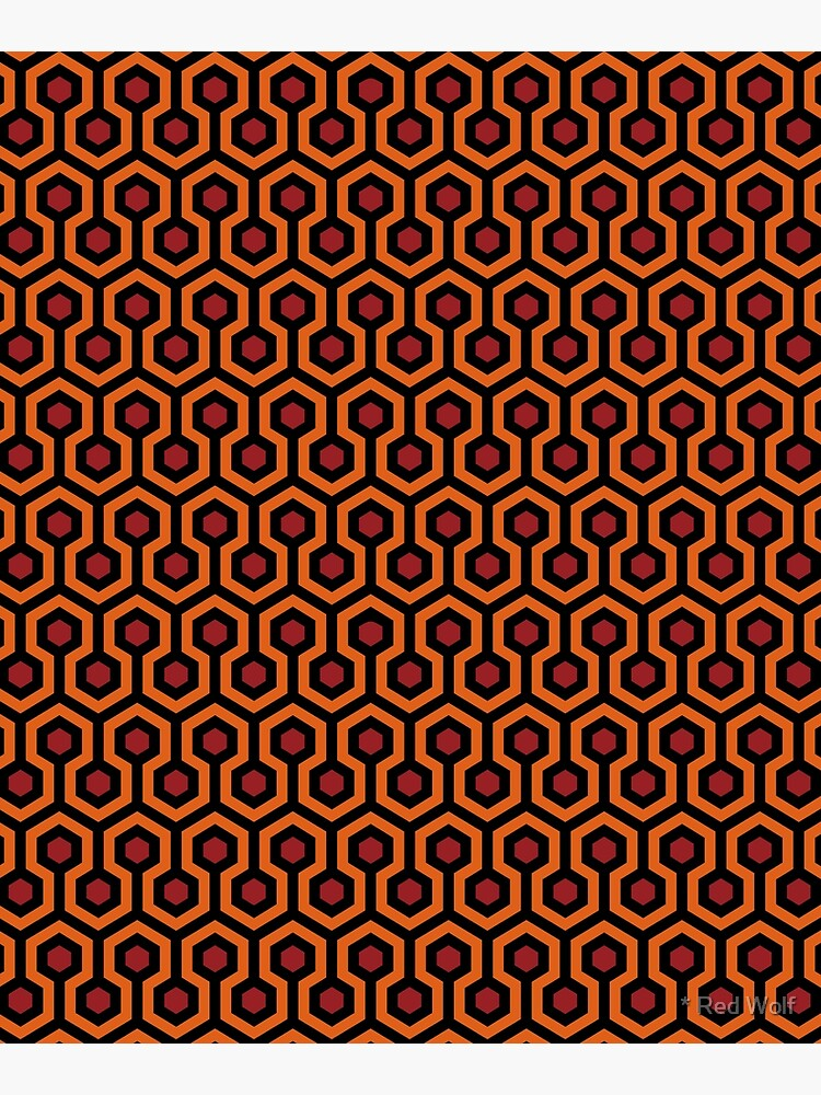Overlook Hotel Carpet from The Shining: Orange/Red by redwolfoz