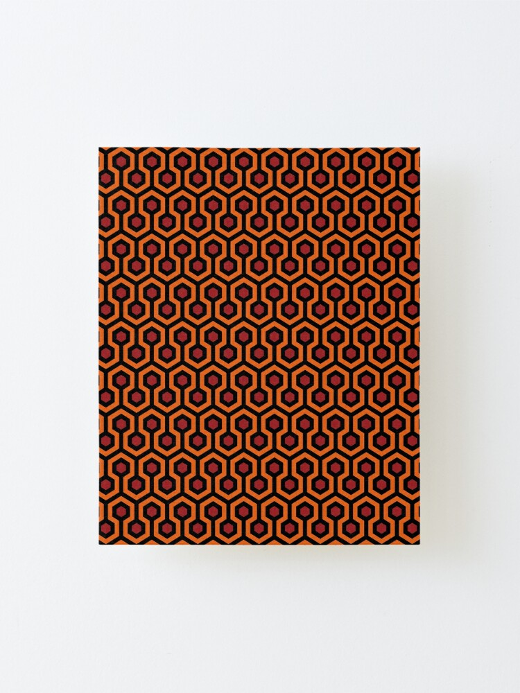 Alternate view of Overlook Hotel Carpet from The Shining: Orange/Red Mounted Print