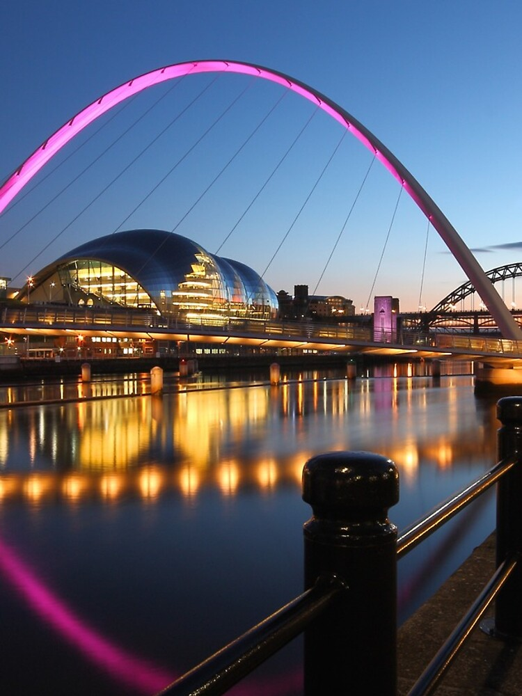 Newcastle-Gateshead, Bridges and Quayside at Dusk by robcole