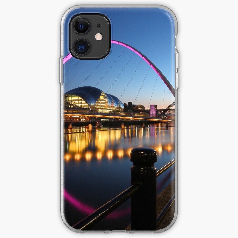 Newcastle-Gateshead, Bridges and Quayside at Dusk iPhone Case & Cover