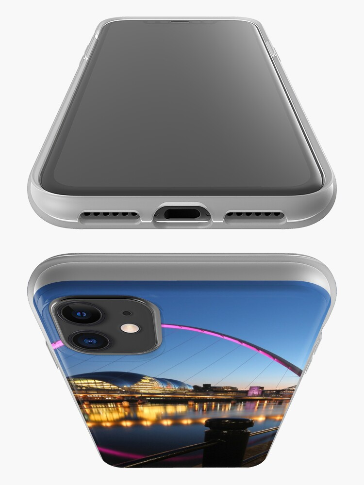 Alternate view of Newcastle-Gateshead, Bridges and Quayside at Dusk iPhone Case & Cover