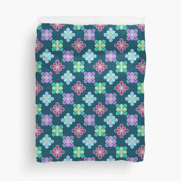 Pastel Multi Flower Pattern Duvet Cover