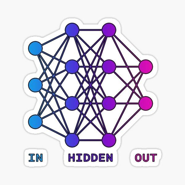 Neural Network Art Sticker