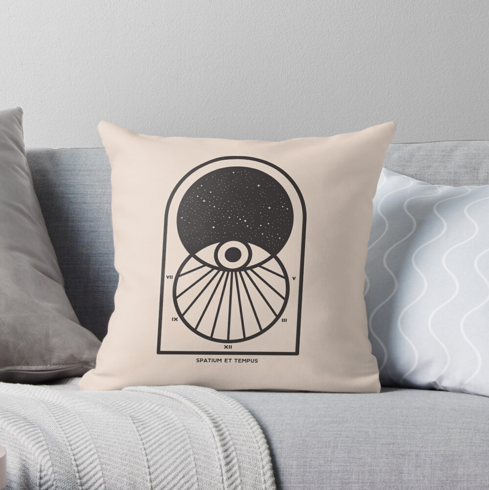 Space and Time Throw Pillow