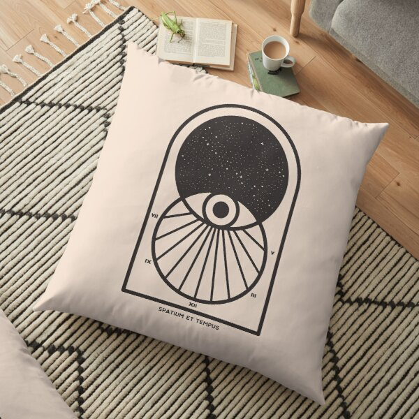 Space and Time Floor Pillow