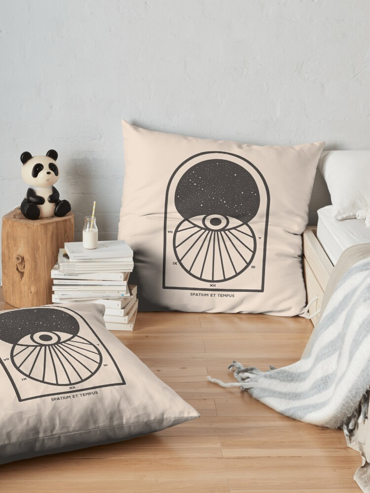 Alternate view of Space and Time Floor Pillow