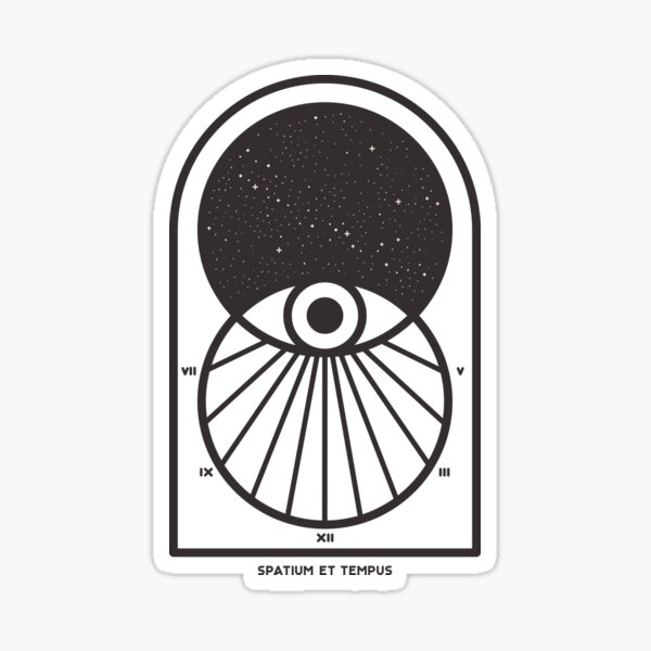 Space and Time Sticker