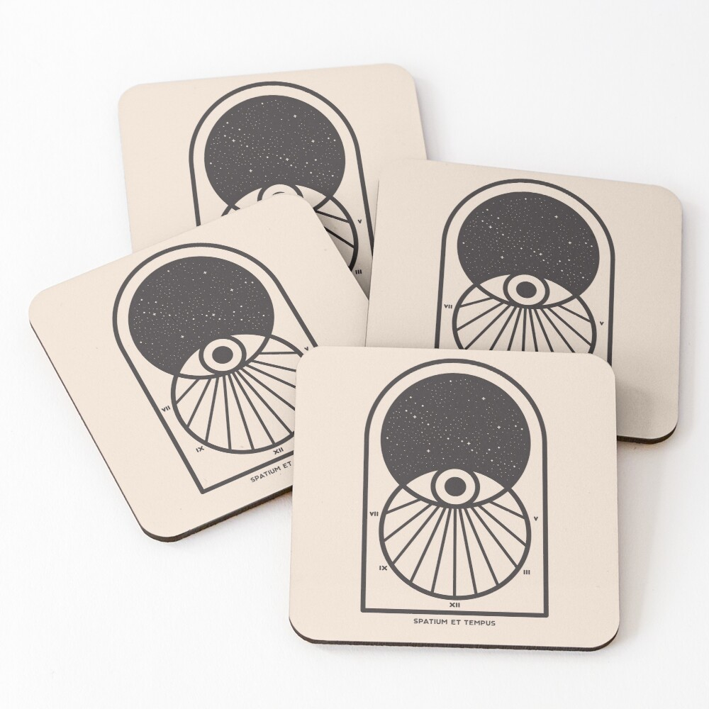 Space and Time Coasters (Set of 4)