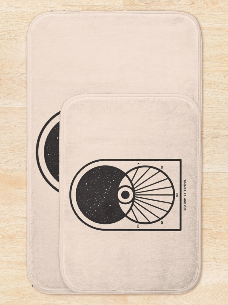 Alternate view of Space and Time Bath Mat