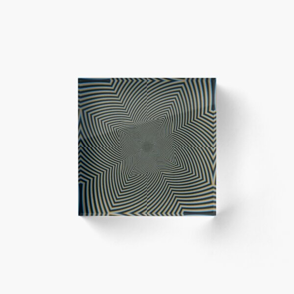 #Art, #pattern, #abstract, #decoration, design, creativity, color image, spiral Acrylic Block