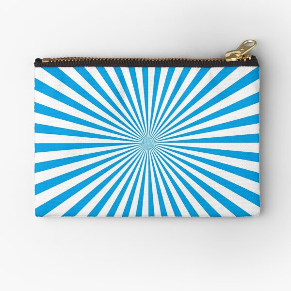 Sunburst, pinwheel, groovy, abstract, #illustration, #radial, #sunbeam, #design, pattern, psychedelic, art Zipper Pouch
