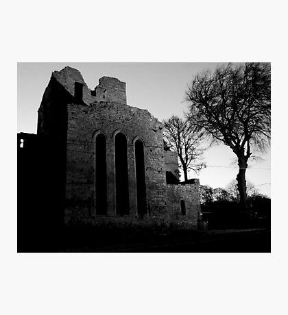 Boyle Abbey B/W edit Photographic Print