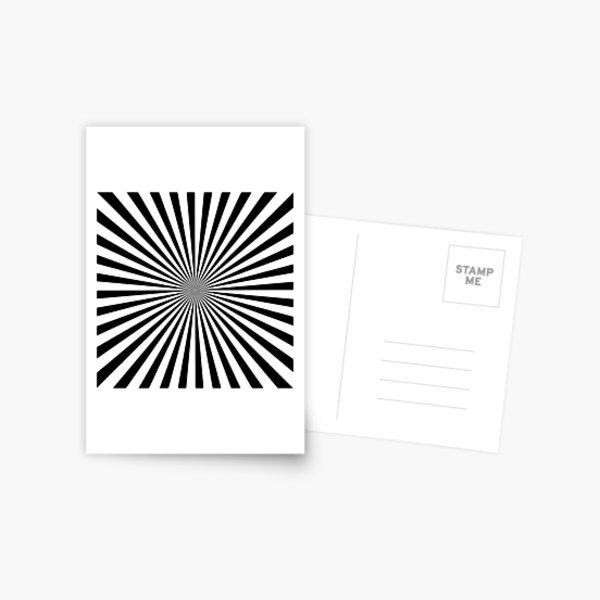 #Sunburst, #pinwheel, #groovy, #abstract, illustration, radial, sunbeam, design, pattern, psychedelic, art Postcard