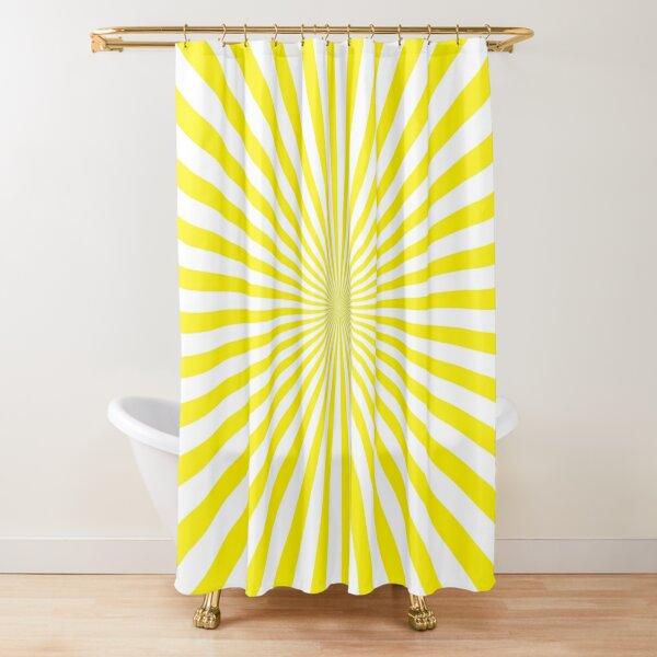 #Sunburst, #pinwheel, #groovy, #abstract, illustration, radial, sunbeam, design, pattern, psychedelic, art Shower Curtain