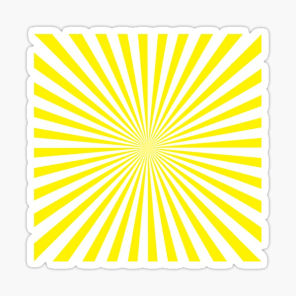 #Sunburst, #pinwheel, #groovy, #abstract, illustration, radial, sunbeam, design, pattern, psychedelic, art Sticker