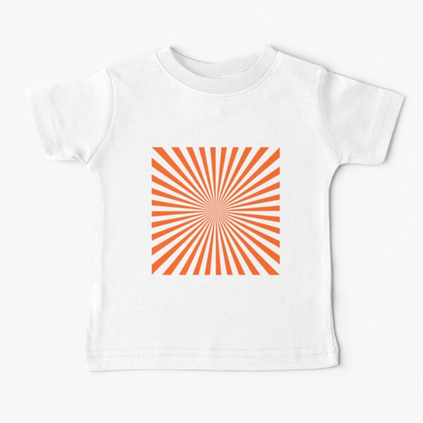 #Sunburst, #pinwheel, #groovy, #abstract, illustration, radial, sunbeam, design, pattern, psychedelic, art Baby T-Shirt