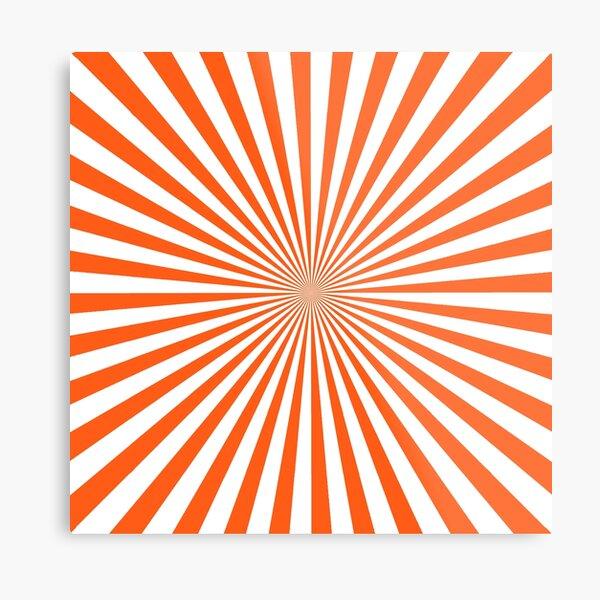 #Sunburst, #pinwheel, #groovy, #abstract, illustration, radial, sunbeam, design, pattern, psychedelic, art Metal Print