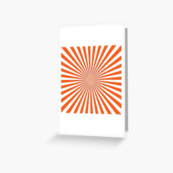 #Sunburst, #pinwheel, #groovy, #abstract, illustration, radial, sunbeam, design, pattern, psychedelic, art Greeting Card