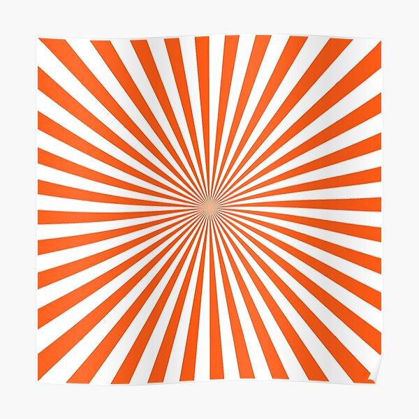 #Sunburst, #pinwheel, #groovy, #abstract, illustration, radial, sunbeam, design, pattern, psychedelic, art Poster