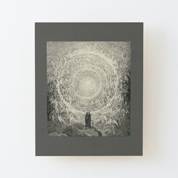 ANGELS AND DEMONS. Dante, Heaven, Heavenly, The Divine Comedy, Gustave Dore, Highest, Heaven. Wood Mounted Print