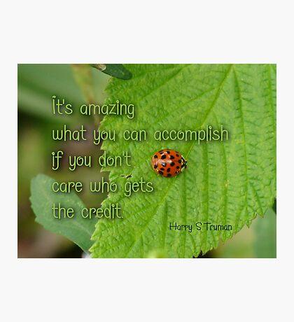Accomplishment - Inspirational Photographic Print