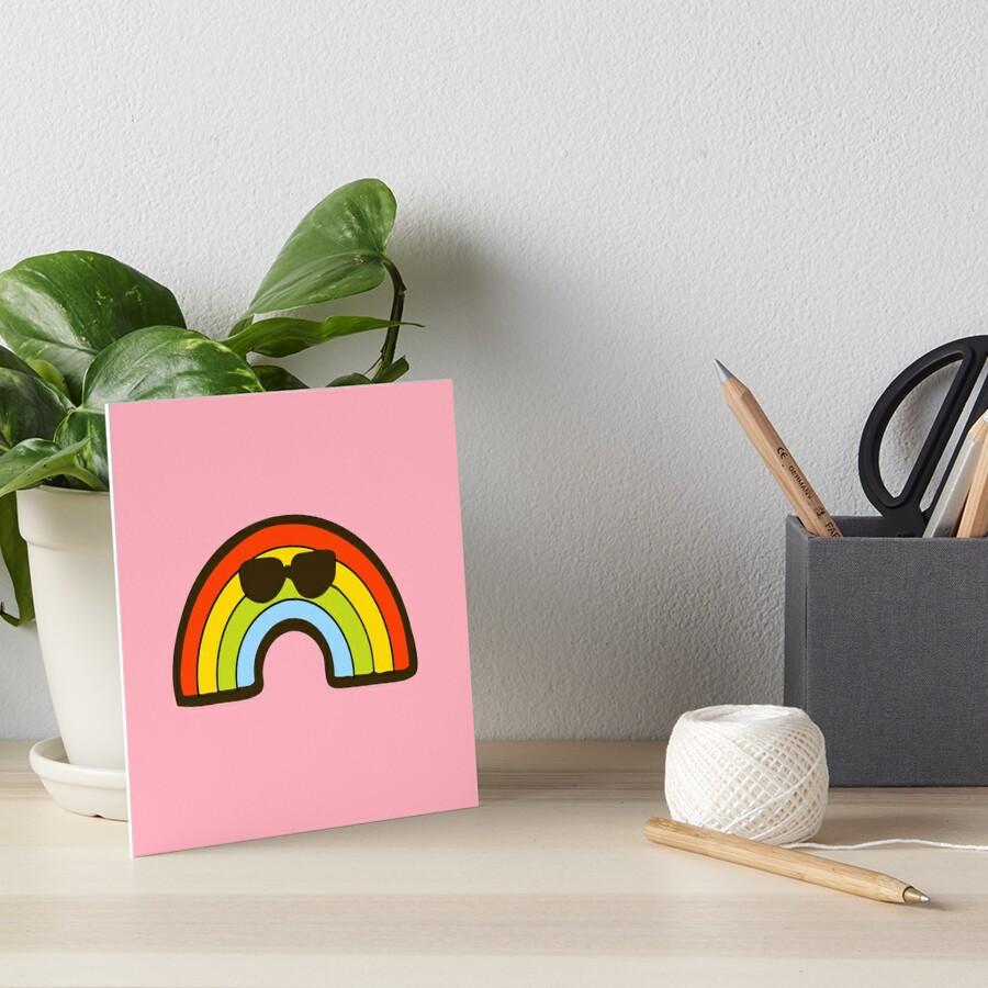 Cool Rainbow Pattern Art Board Print