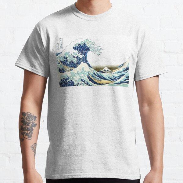 HOKUSAI. The Great Wave off Kanagawa, BRIGHTENED. Classic T-Shirt
