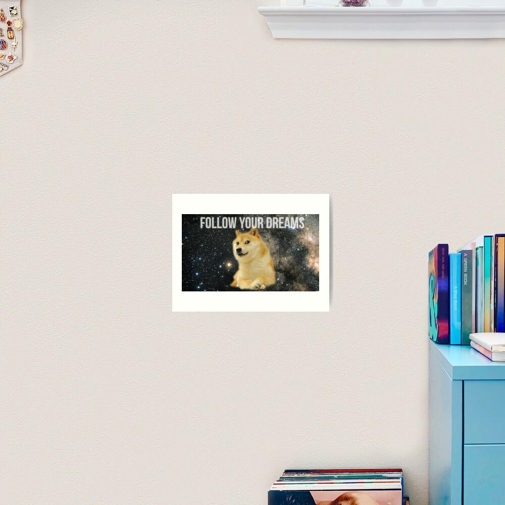Doge Shibe Meme  Art Print