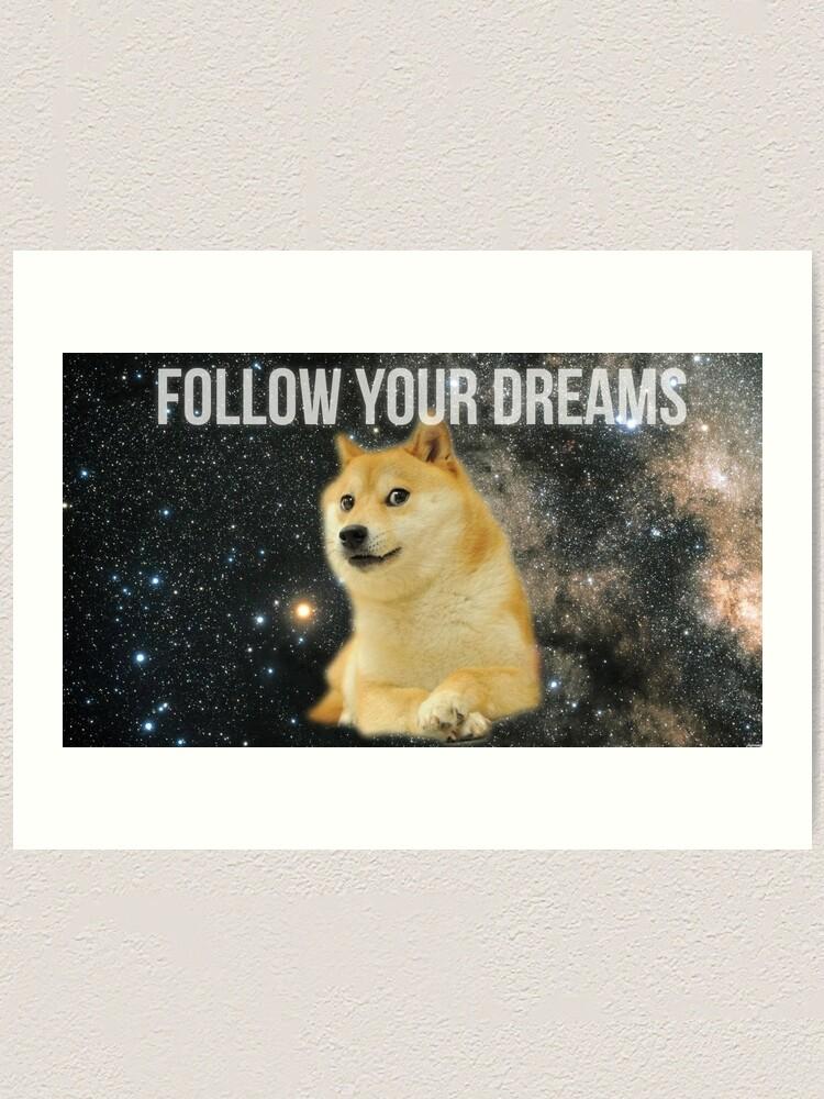 Alternate view of Doge Shibe Meme  Art Print