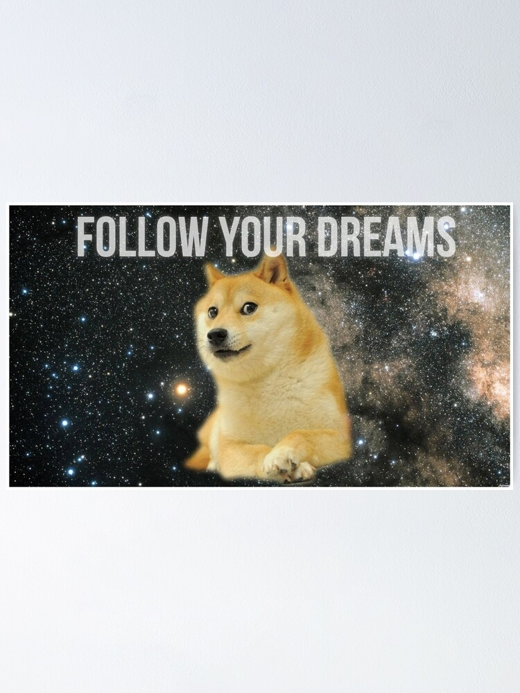 Alternate view of Doge Shibe Meme  Poster