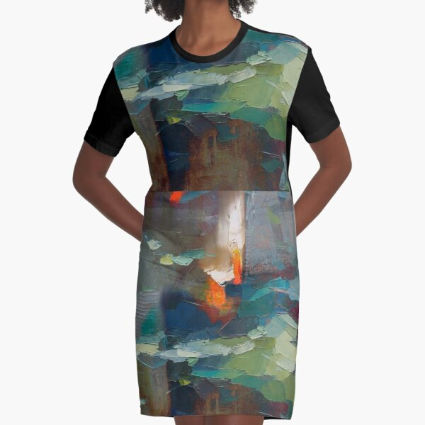 FIRE -FLAMES FROM THE HEART Graphic T-Shirt Dress