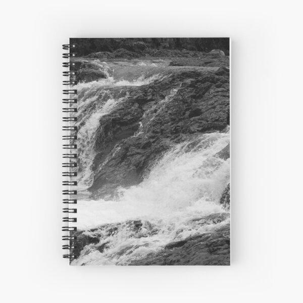 River Cascading over rocks just below Gooseberry Falls in Minnesota Spiral Notebook