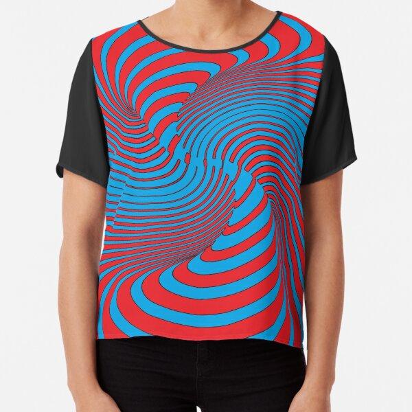 #Illusions gif, #abstract, #design, #pattern, art, illustration, twirl, hypnosis, twist, target, spiral Chiffon Top