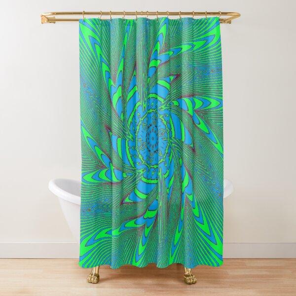 #Illusions gif, #abstract, #design, #pattern, art, illustration, twirl, hypnosis, twist, target, spiral Shower Curtain