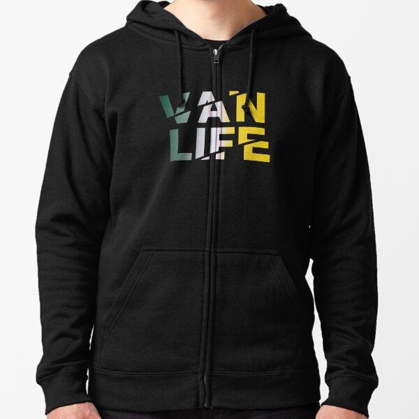 Van Life gradient Zipped Hoodie
