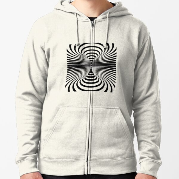 #Illusions gif, #abstract, #design, #pattern, art, illustration, twirl, hypnosis, twist, target, spiral Zipped Hoodie
