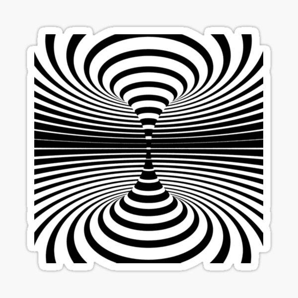 #Illusions gif, #abstract, #design, #pattern, art, illustration, twirl, hypnosis, twist, target, spiral Sticker