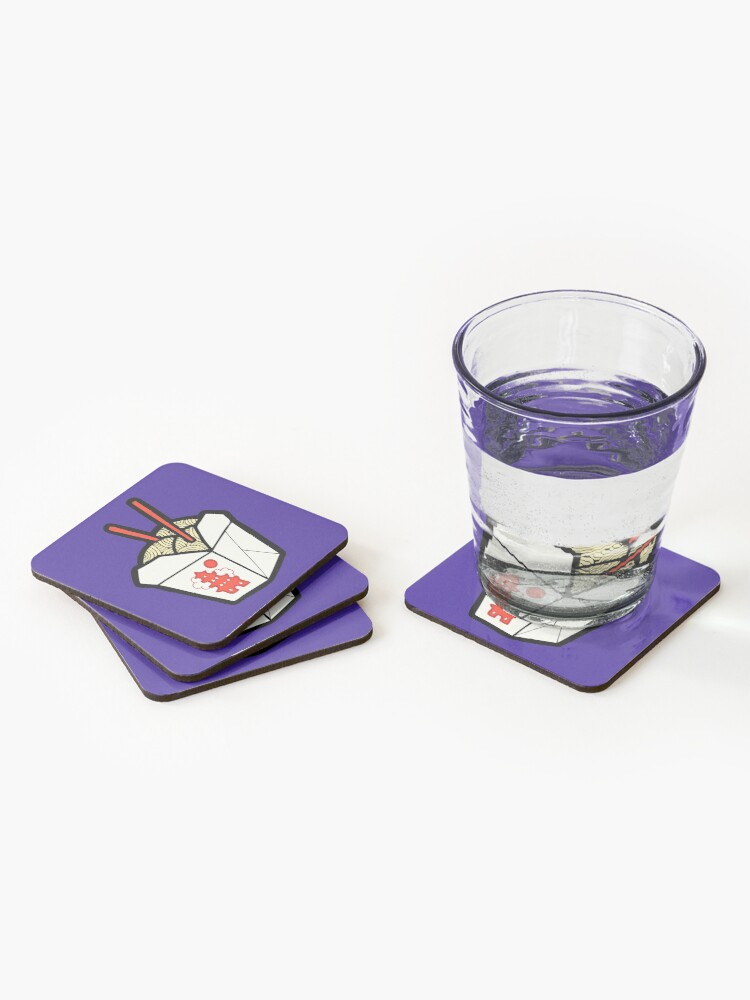 Alternate view of Take-Out Noodles Box Pattern Coasters (Set of 4)