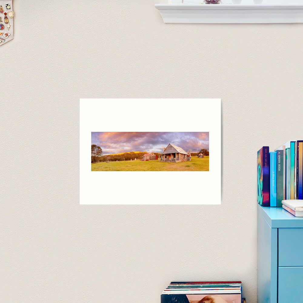 Coolamine Homestead Sunset, Kosciuszko National Park, New South Wales, Australia Art Print