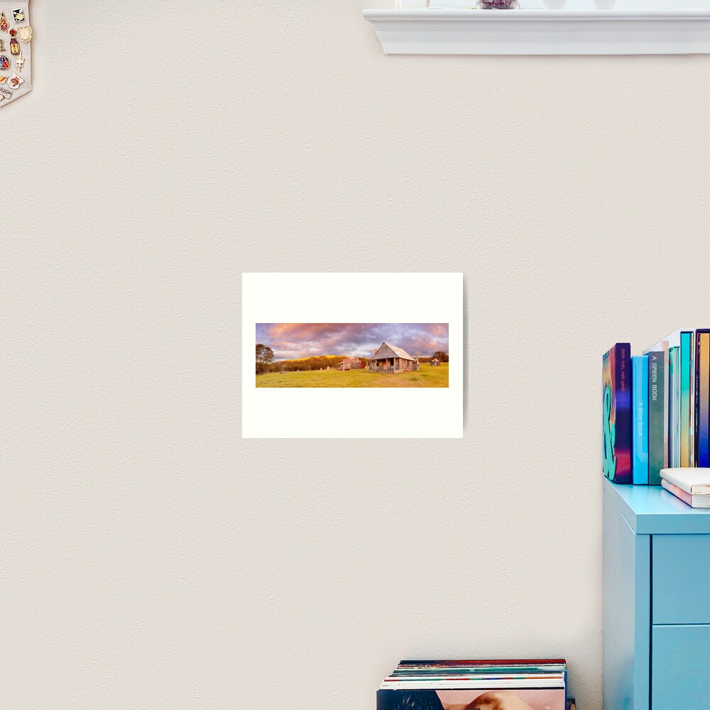 Coolamine Homestead Sunset, Kosciuszko National Park, New South Wales, Australia Art Print