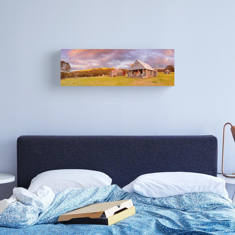 Coolamine Homestead Sunset, Kosciuszko National Park, New South Wales, Australia Canvas Print