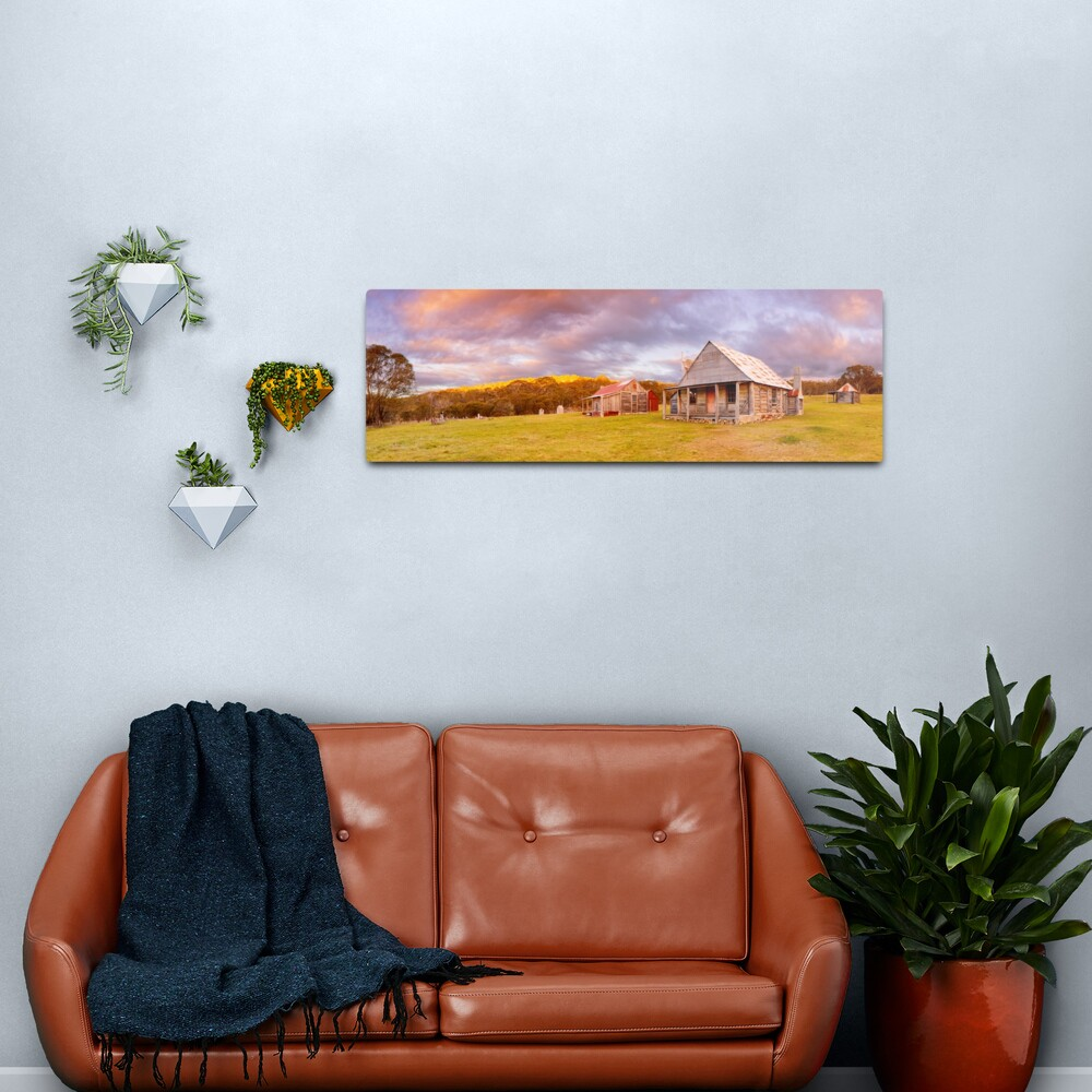 Coolamine Homestead Sunset, Kosciuszko National Park, New South Wales, Australia Metal Print