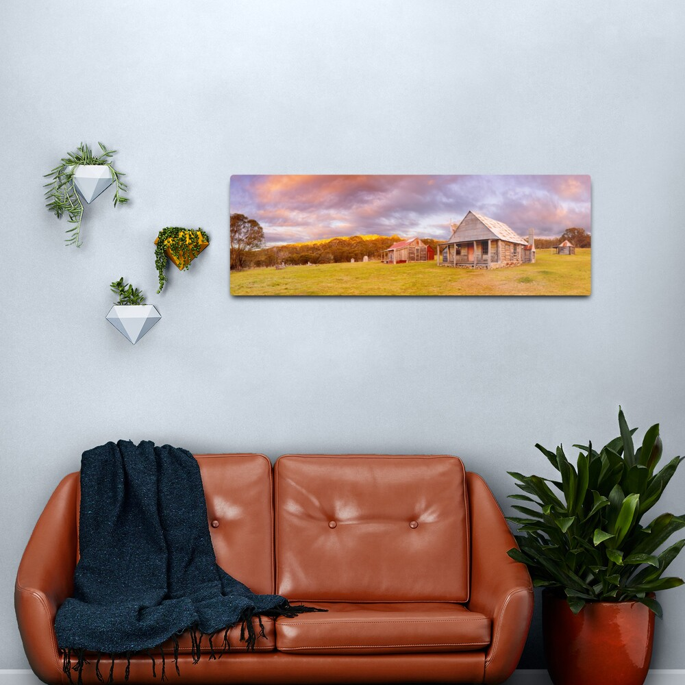 Coolamine Homestead Sunset, Kosciuszko National Park, New South Wales, Australia Metal Print