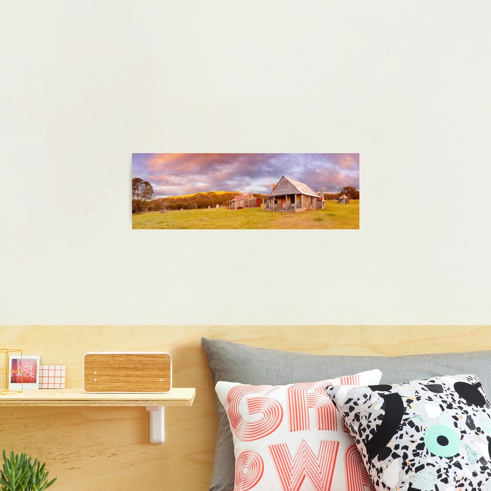 Coolamine Homestead Sunset, Kosciuszko National Park, New South Wales, Australia Photographic Print