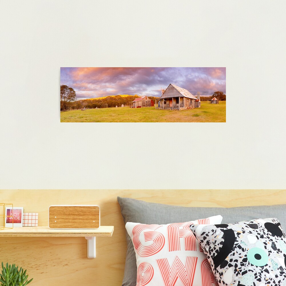 Coolamine Homestead Sunset, Kosciuszko National Park, New South Wales, Australia Photographic Print