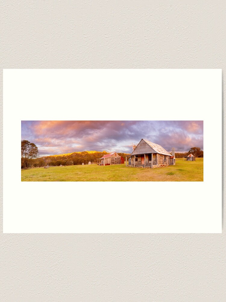 Alternate view of Coolamine Homestead Sunset, Kosciuszko National Park, New South Wales, Australia Art Print