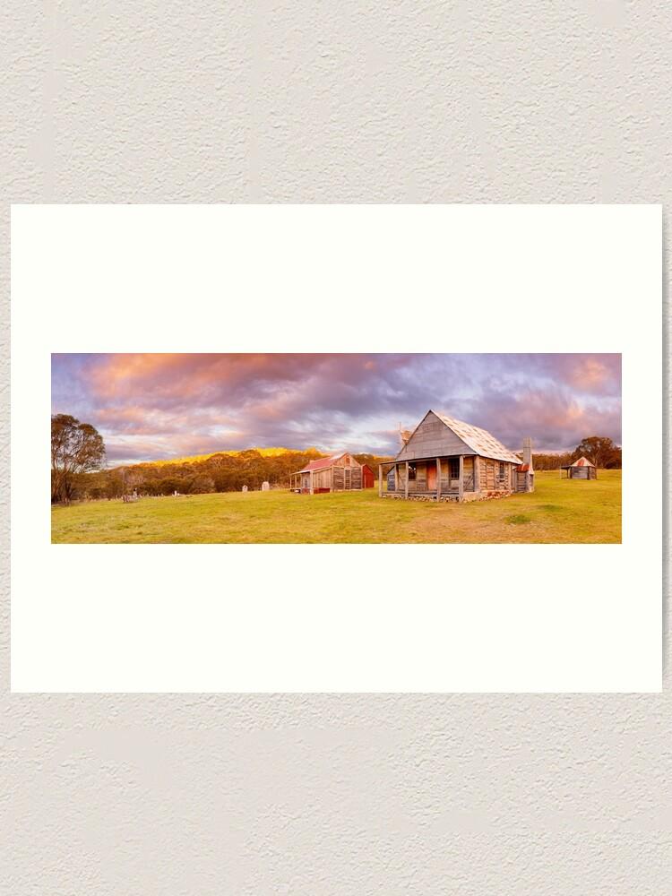 Alternate view of Coolamine Homestead Sunset, Kosciuszko National Park, New South Wales, Australia Art Print